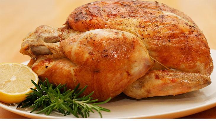 как пожарить целую курицу