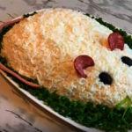 Салат в форме мышки к Новогоднему столу