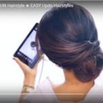 Как сделать красивый пучок из волос? Смотри видео