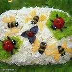 Вкусный салат с крабовыми палочками «Пчёлки»