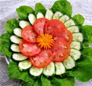 Красивая овощная нарезка на праздничный стол