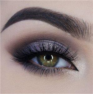 красивый макияж зелёных глаз